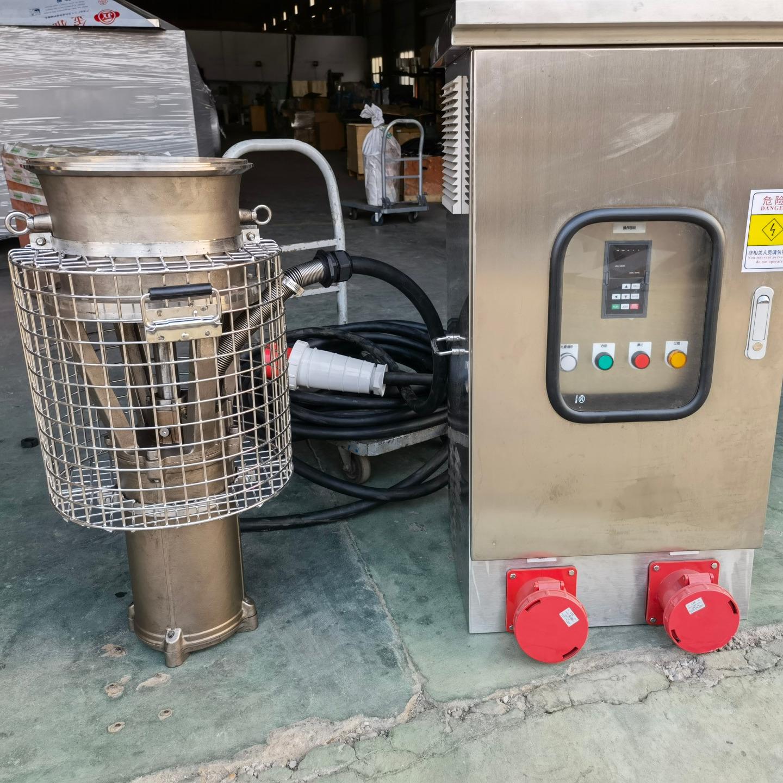油浸式大流量便攜式潛水泵 1200方永磁電機潛水泵 永磁軸流潛水泵