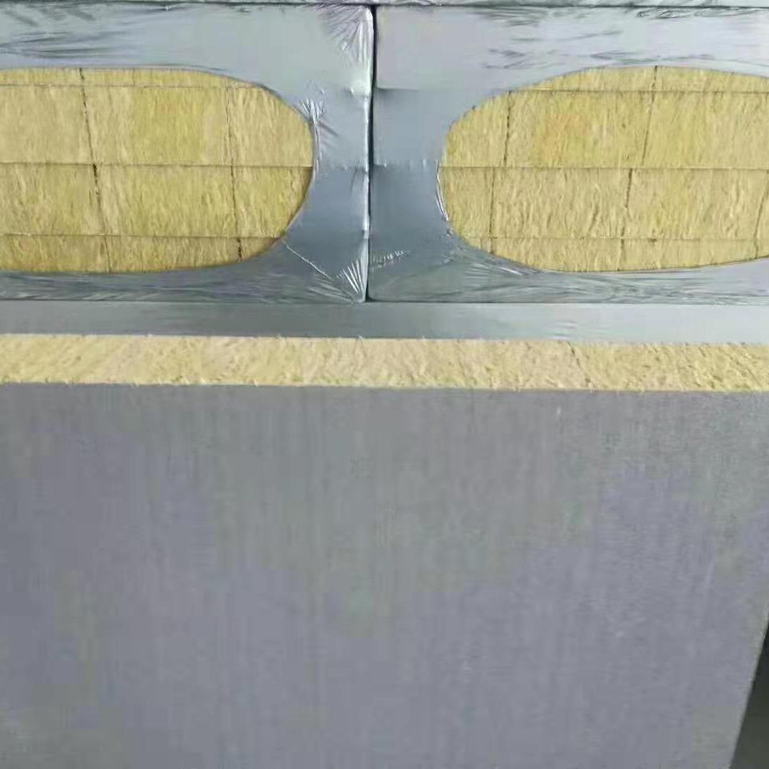 屋頂防火保溫板  巖棉復合板A級防火  養殖大棚專用棉  A級防火防水巖棉板  星奧供應